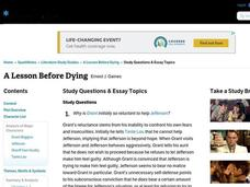 a lesson before dying study guide answers