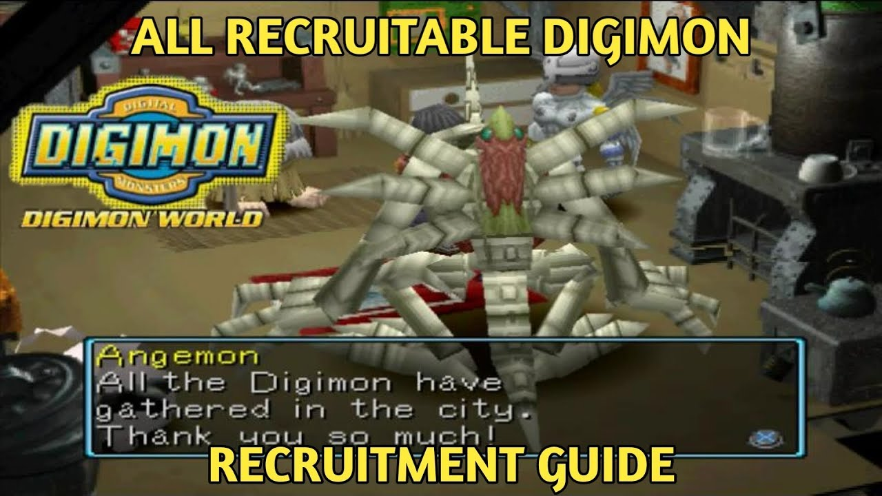digimon world ps1 recruitment guide